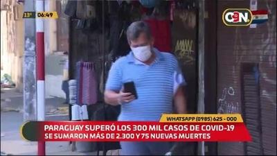 Paraguay superó los 300 mil casos de COVID19