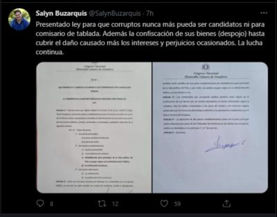 Buscan que condenados por hechos de corrupción no puedan candidatarse