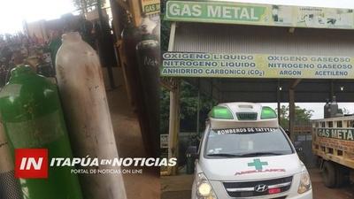 YATYTAY: BOMBEROS VIAJARON HASTA MINGA GUAZÚ PARA RECARGAR O2 EN BALONES.