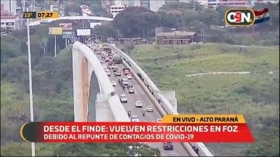 Foz de Yguazú vuelve a fase cero ante aumento de casos
