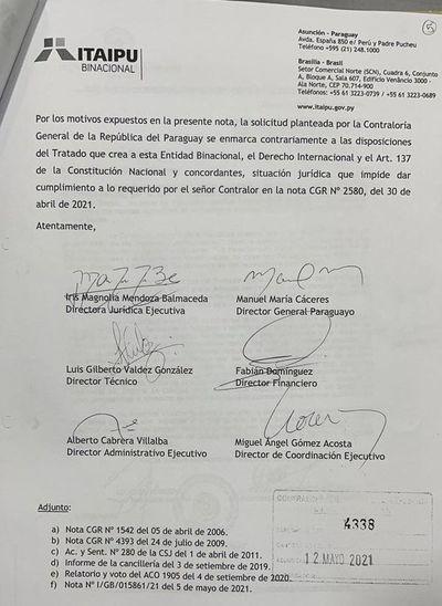 Itaipú y Yacyretá se niegan a auditoría de la Contraloría escudándose en la binacionalidad