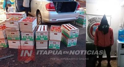 INCAUTAN 33 CAJAS DE TOMATE SUPUESTAMENTE INGRESADAS DE CONTRABANDO