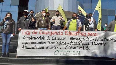 Presentan ley de emergencia educativa