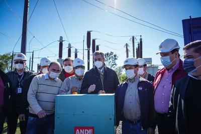 Mario Abdo inauguró subestación de la Ande que garantiza energía eléctrica a más de 18.000 usuarios de Misiones