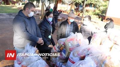 ENTREGA DE KITS DE ALIMENTOS PARA ESCOLARES Y SUS FAMILIAS EN CAPITÁN MIRANDA.