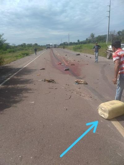 Fatal accidente en la ruta Concepción- Vallemí