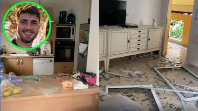 ¡Desolada! Así quedó la casa de futbolista tras ser destruida por un misil en Israel (VIDEO)
