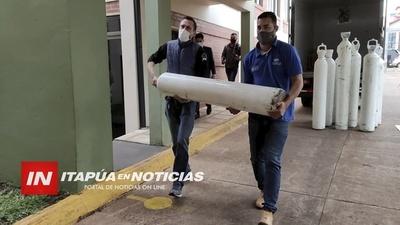 GOBERNACIÓN COMPLETARÁ ENTREGA DE 50 BALONES DE O2 A SALUD.