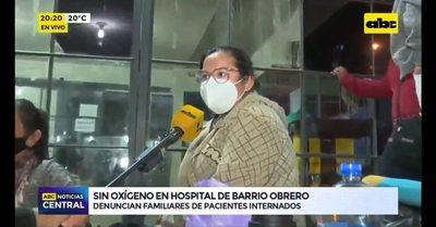 Familiares de internados con covid-19 en Hospital de Barrio Obrero reportan escases de oxígeno