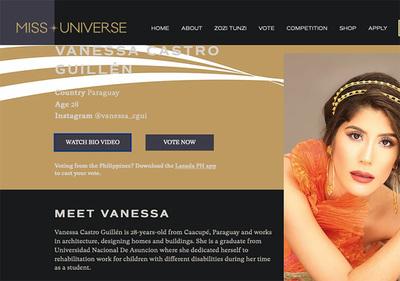 Vanessa Castro en traje de baño (video)