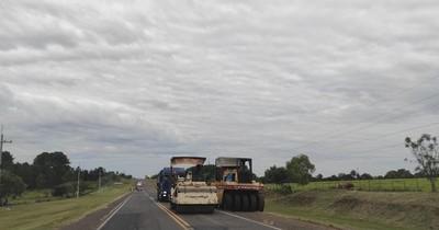 La Nación / Avanzan obras de rehabilitación en la Ruta PY01