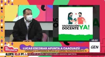 Candidato a intendente en Caaguazú propuso campaña de vacunación para docentes