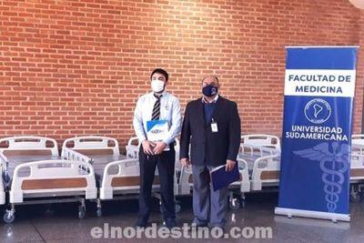 Universidad Sudamericana realizó donación de camas y colchones para uso médico al Hospital Regional de Salto del Guairá