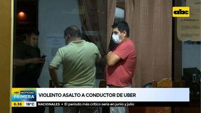 Violento asalto a un conductor de Uber