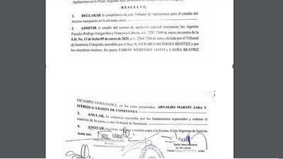 Caso San Agustín: anulan absolución de parlasuriano e intendente y ordenan nuevo juicio