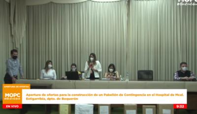 Seis oferentes cotizaron hoy para la construcción del primer Pabellón de Contingencia del Chaco