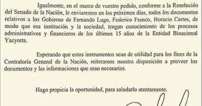 La Nación / CGR recurre a la Justicia para que Itaipú ceda rendiciones de cuentas