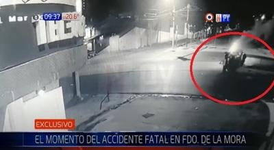 Revelan imágenes del fatal accidente en Fernando de la Mora