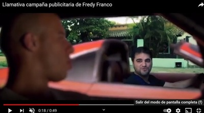 Llamativa campaña publicitaria de Fredy Franco