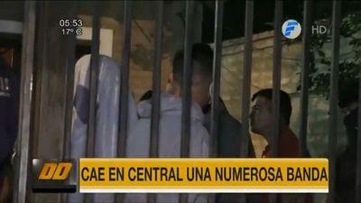 Banda de presuntos asaltantes cae en San Lorenzo