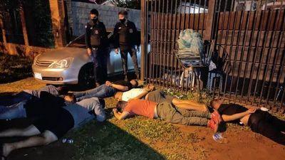 Intervienen fiesta clandestina y cae una supuesta gavilla de asaltantes