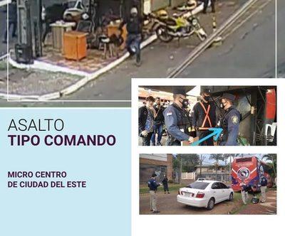 VIOLENTO ASALTO EN EL CENTRO DE CIUDAD DEL ESTE