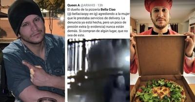 La Nación / Mujer fue brutalmente golpeada por dueño de pizzería, denuncian