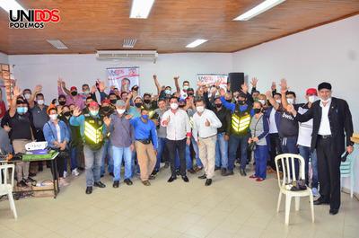 Núñez obtiene apoyo de trabajadores de la vía pública de CDE