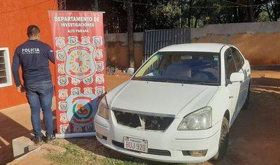 Hallan vehículo denunciado como robado totalmente «carneado»