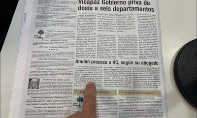 """Tras unánime decisión de Tribunal brasileño a favor de HC, ABC """"exilió"""" sus 50 temas de tapa a sección exequias"""