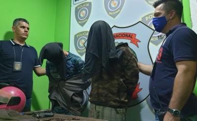 Detienen a primos sindicados de asesinato y robos con heridos graves
