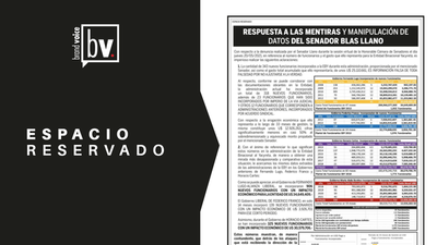ESPACIO RESERVADO: RESPUESTA A LAS MENTIRAS Y MANIPULACIÓN DE DATOS DEL SENADOR BLAS LLANO
