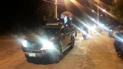 Multitudinaria caravana en honor a María Auxiliadora en Fuerte Olimpo