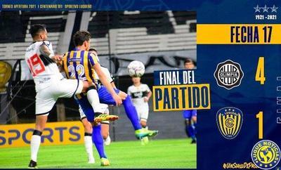 Olimpia golea a Luqueño en el debut de Berti •
