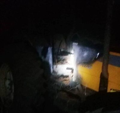 Incendio parcial de tractor en Hernandarias
