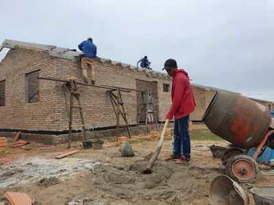 Avanza la construcción de viviendas sociales en colonias del Indert de Caaguazú