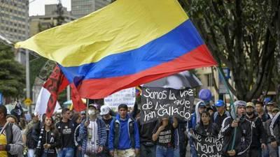 Denuncian que hay 129 desaparecidos durante las protestas en Colombia
