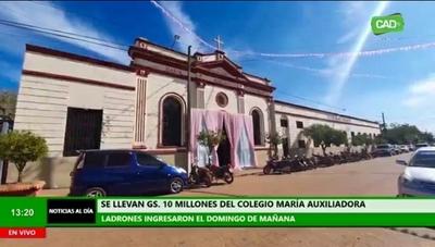 Se llevaron Gs. 10 millones tras robo en el Colegio María Auxiliadora