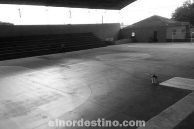 Bella Vista Norte prepara la cancha de la Seccional Colorada Nro. 110 para el próximo Campeonato Nacional de Fútbol de Salón