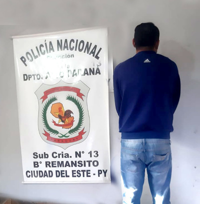 Atrapan a violento sujeto que agredió verbal y físicamente a su pareja en el barrio Remansito