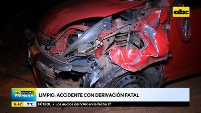 Accidente con derivación fatal en Limpio