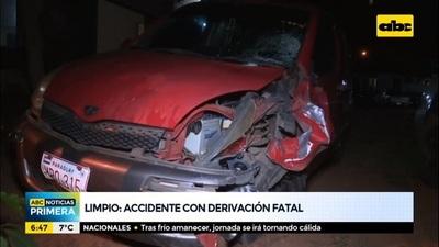 Accidente en Limpio termina con la vida de un motociclista