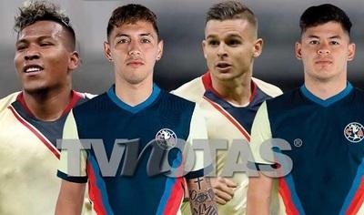 Filtran imágenes de cuatro futbolistas del América con mujeres desnudas