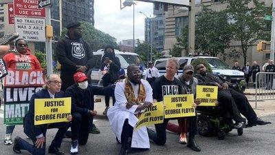 Neoyorquinos marchan para pedir retirada de fondos de la policía