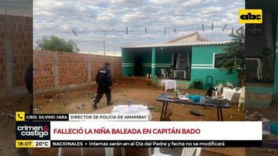 Falleció niña baleada en Capitán Bado