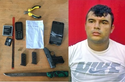 Preso apunta con arma de fuego a guardiacárceles cuando lo iban a trasladar de prisión