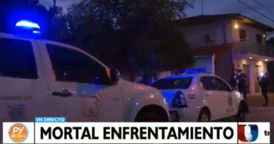 Enfrentamiento en Fernando de la Mora deja como saldo a un fallecido