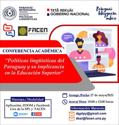 """Invitan a conferencia sobre """"Políticas lingüísticas del Paraguay y su implicancia en la educación superior"""""""