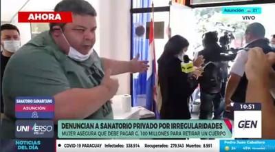 Sanatorio renuncia a convenio con Salud tras incidentes con familiares de paciente fallecido por covid-19