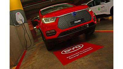 BYD y Paseo La Galería habilitan puntos de recarga para autos eléctricos
